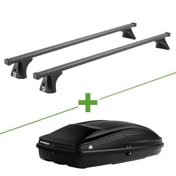 Pack barres et coffre de toit Cruz Oplus fix + Wabb S pour Peugeot 5008 I 5 portes - 3664956357860