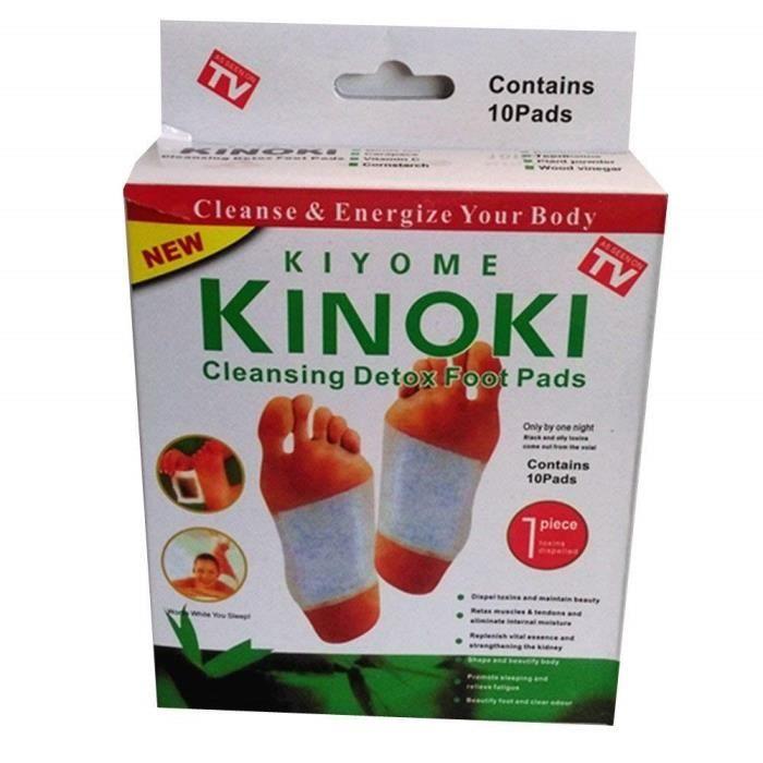 10 x patches détox Kinoki pour les pieds aux Herbes Naturelles détoxifiant Naturel - 5964586131860