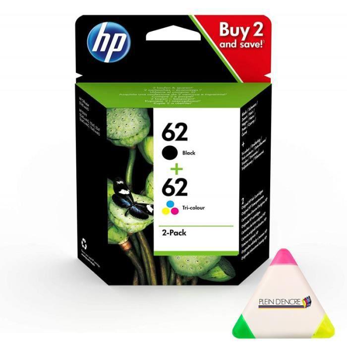 Pack 2 cartouches d'encre C2P06AE et C2P04AE pour imprimante HP Envy 5640