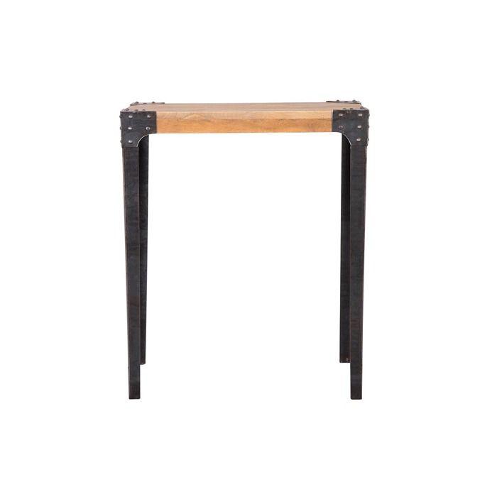 Miliboo - Table haute industrielle rectangulaire en bois et métal MADISON