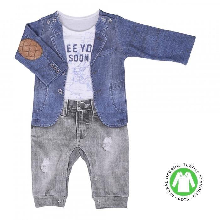 Pyjama bébé garçon en coton bio, JOE