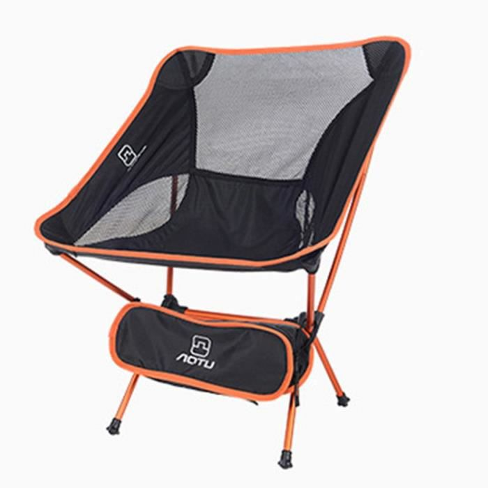 Chaise de plage pliante en alliage d'aluminium orange haute résistance pour l'aviation