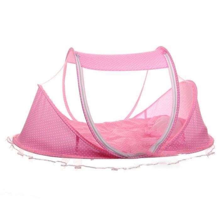 Tapis avec moustiquaire pour bébé Pliable Moustiquaire haute qualité rose 110 * 58 * 50mm