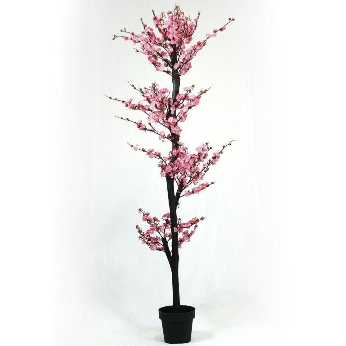 Arbre artificiel Cerisier fleurs roses Kyoto - Hauteur 180 cm