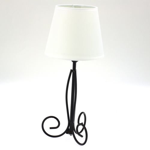 lampe pied escargot m tal ivoire achat vente lampe pied escargot m t cdiscount. Black Bedroom Furniture Sets. Home Design Ideas