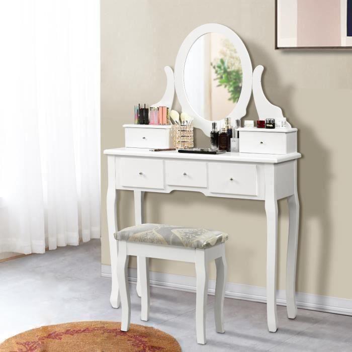 COIFFEUSE Coiffeuse,Table de Maquillage en Bois avec Miroir