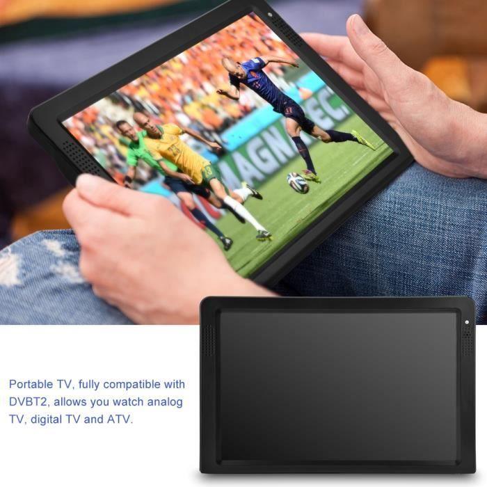 """Téléviseur LED 12"""" DVB-T-T2 Téléviseur 16:9 Portable TFT-LED HD C"""