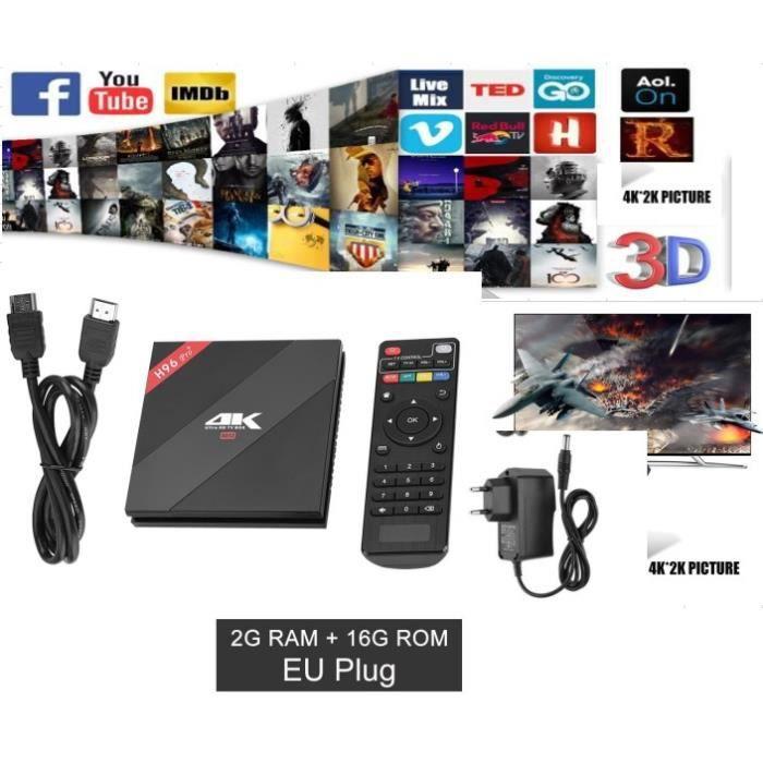 RÉCEPTEUR - DÉCODEUR   Décodeur TV multimédia Smart TV Box démodulateur T