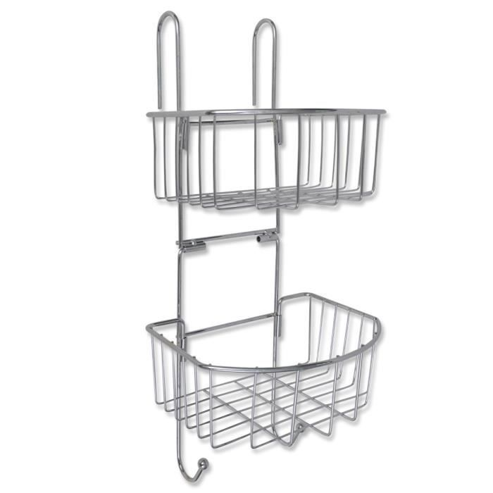 p122 etagere d 39 angle en metal de salle de bain achat. Black Bedroom Furniture Sets. Home Design Ideas