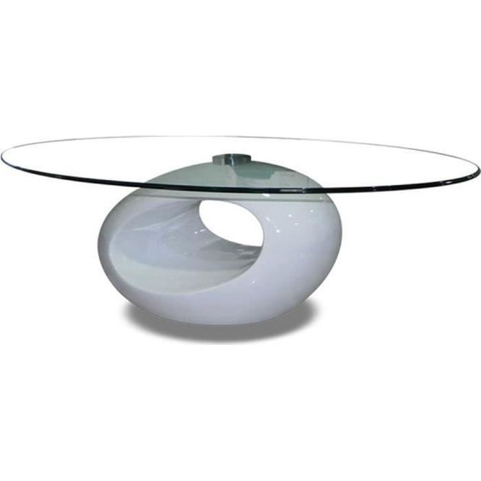 Table basse de salon blanche symbiose achat vente table basse table bas - Tables basses blanches ...
