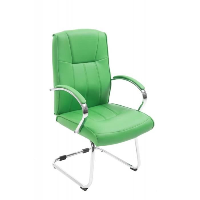 fauteuil chaise de bureau sans roulette en pu vert bur10030 achat vente chaise de bureau. Black Bedroom Furniture Sets. Home Design Ideas