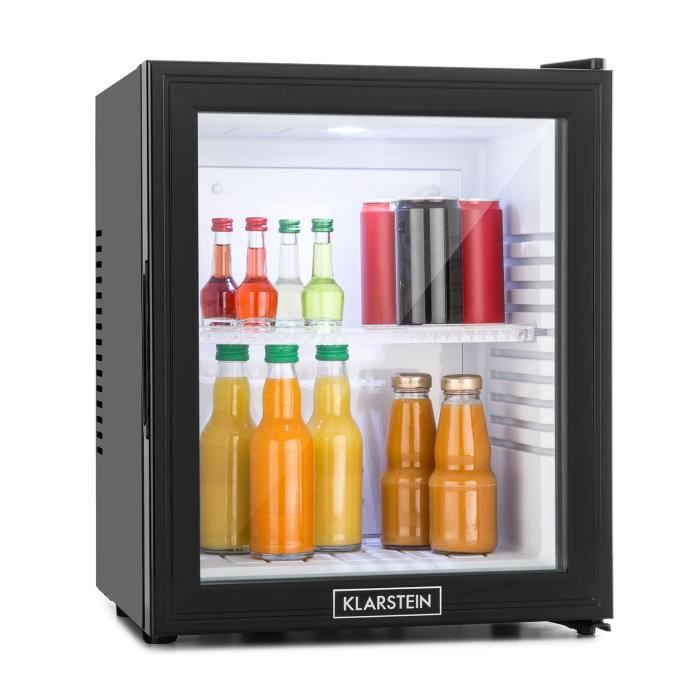 minibar 36 litres classe b noir porte verre achat vente mini bar mini frigo minibar 36. Black Bedroom Furniture Sets. Home Design Ideas