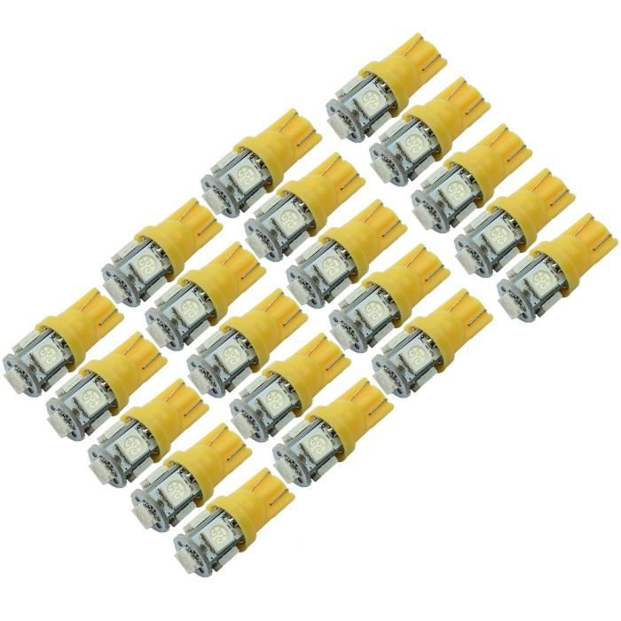 20 pcs ampoule t10 w5w 5 smd led veilleuse lampe feux orange voiture clairage achat vente. Black Bedroom Furniture Sets. Home Design Ideas