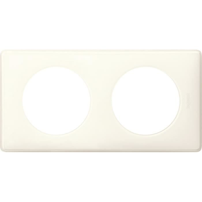 plaque c/éliane 3 postes glossy blanc