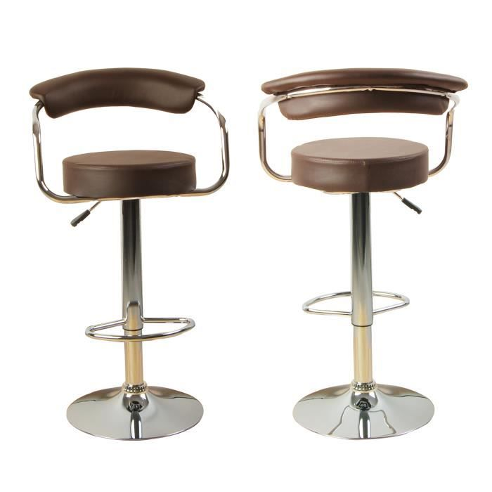 lot de 2 tabourets de bar ilot central cuisine bistrot. Black Bedroom Furniture Sets. Home Design Ideas