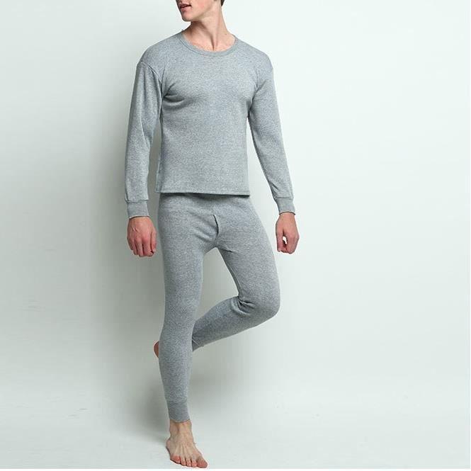 Men/'s Complete thermique set sous-vêtements Pantalon long Johns /& t-shirt top grande taille