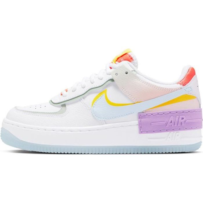 Baskets Air Force 1 Shadow CW2630-141 Chaussures pour Femme Blanc ...