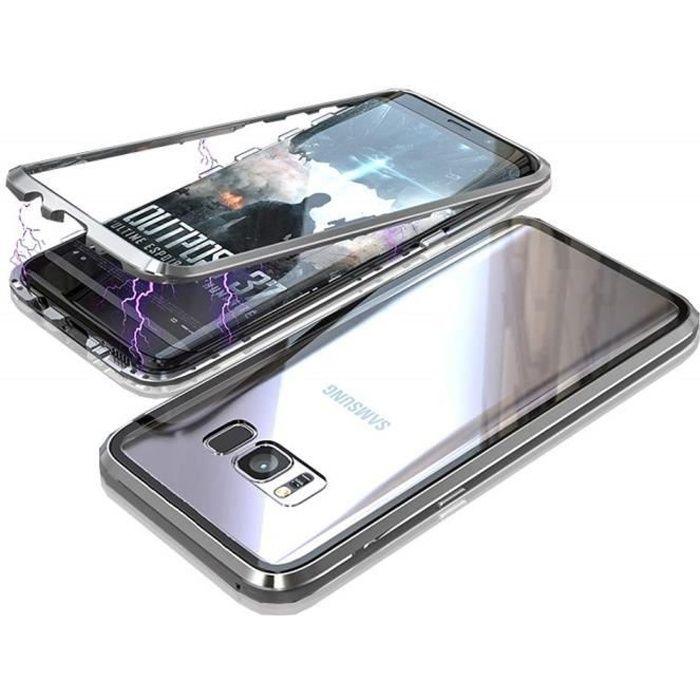 Coque Samsung Galaxy S8 PLUS - Magnetique Argent E