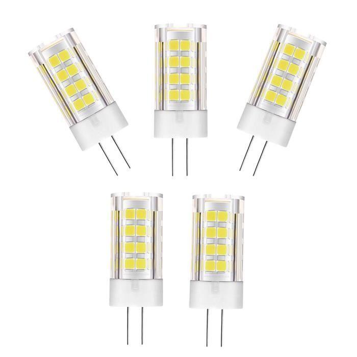 5pcs Led Ampoule G4 Montage 5w Lampe Halogène Blanc Froid 6000k Dc Ac 12v Achat Vente Ampoule Led Prolongation Soldes Cdiscount