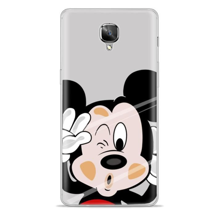 coque pour oneplus 3t 5 5 pouces smartphone conception de mickey mouse tpu bumper t l phone. Black Bedroom Furniture Sets. Home Design Ideas