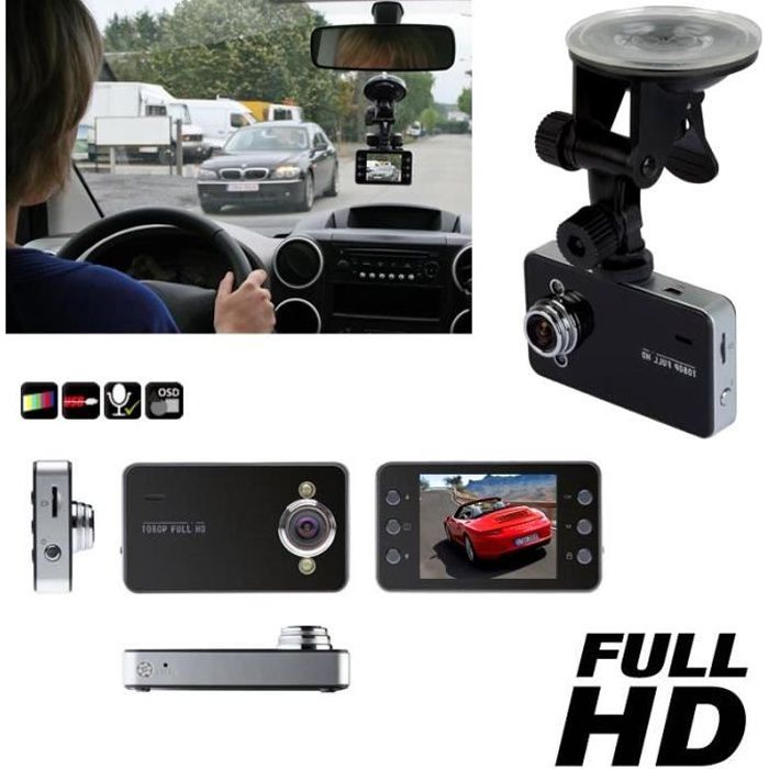 camera embarqu e pour voiture full hd pro 2 7 tft achat vente cam ra miniature camera. Black Bedroom Furniture Sets. Home Design Ideas