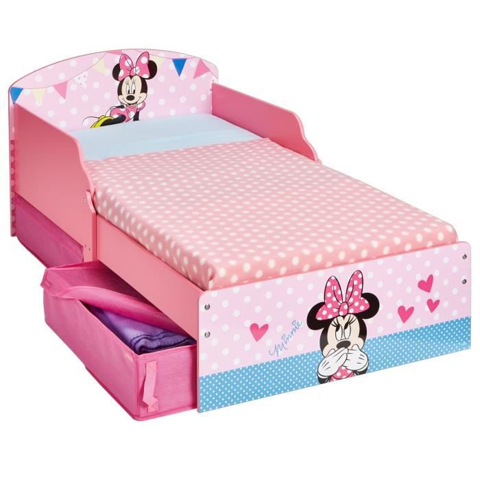 petit lit enfant fille minnie d co chambre rose 70x140. Black Bedroom Furniture Sets. Home Design Ideas