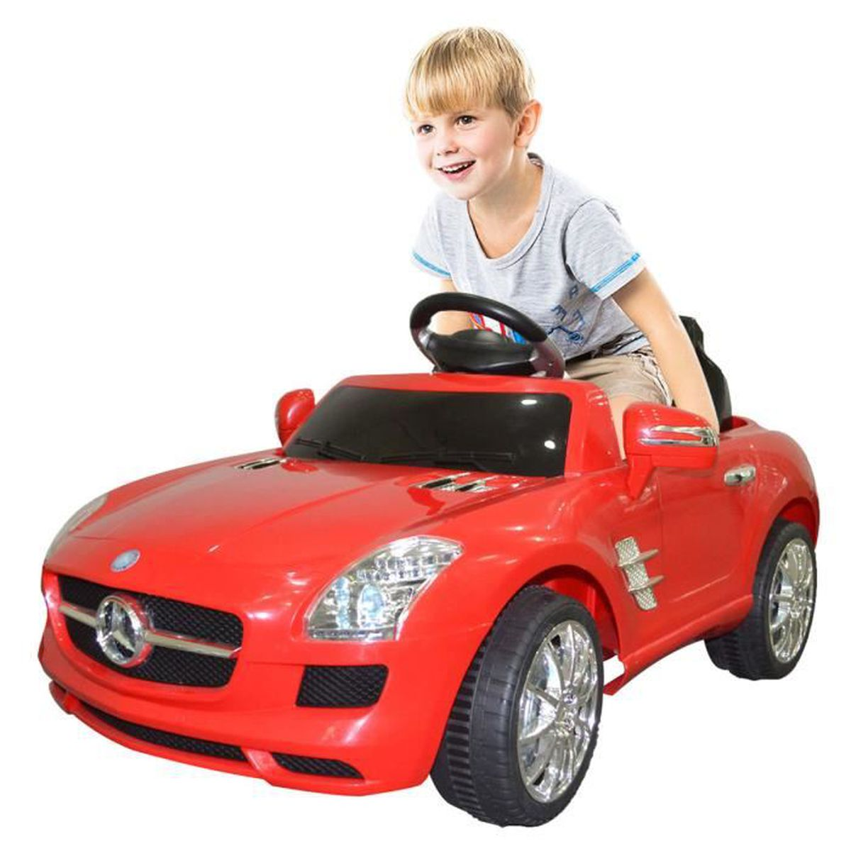 voiture lectrique v hicule enfant mp3 led t l commande cadeau mercedes benz sls amg achat. Black Bedroom Furniture Sets. Home Design Ideas