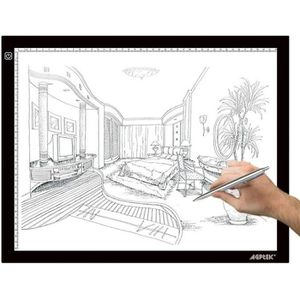 TABLE A DESSIN AGPtek LEGERE Tablette Lumineuse A3 avec Luminosit
