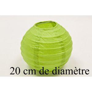 LANTERNE FANTAISIE Lampion papier de 20cm Vert anis