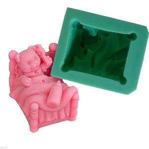 MOULE  Moule Gâteaux en Silicone 3D Bébé Ourson Pour Pate