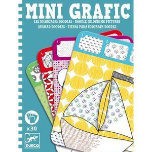 JEU DE COLORIAGE - DESSIN - POCHOIR Mini Grafic : Coloriages Doodles
