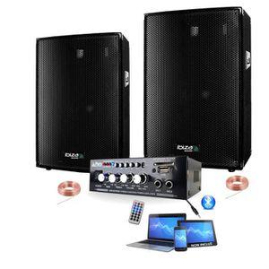 PACK SONO SONO 600 + AMPLI + 2 ENCEINTES 300W PACK DJ SONO M