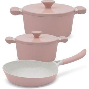 COCOTTE Cocotte et poele Pack rose 2 casseroles UMA (D: 20