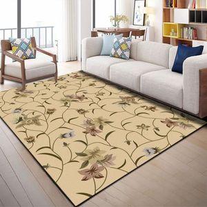 CHAMBRE COMPLÈTE  Couverture de lit de chambre à coucher fleur kaki