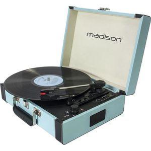 PLATINE VINYLE MADISON 10-5550MA Mallette tourne-disques - Blueto