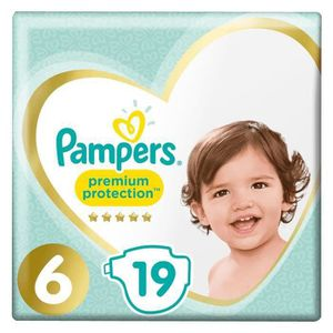 COUCHE PAMPERS Premium Protection Taille 6 15+ kg - 19 Co