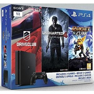 CONSOLE PS4 Console Sony PS4 SLIM 1To + DriveClub, UNCHARTED 4