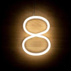 AMPOULE - LED Numéros et symboles néons LED 8
