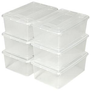 BOITE DE RANGEMENT TECTAKE 6 Boites de Rangement en Plastique Transpa