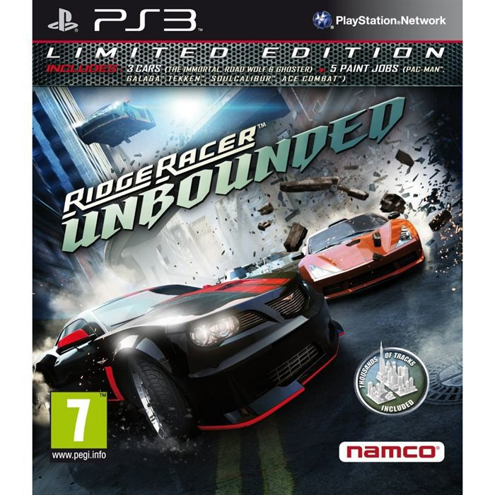 ridge racer unbounded limited edition jeu ps3 achat vente jeu ps3 ridge racer unbounded. Black Bedroom Furniture Sets. Home Design Ideas