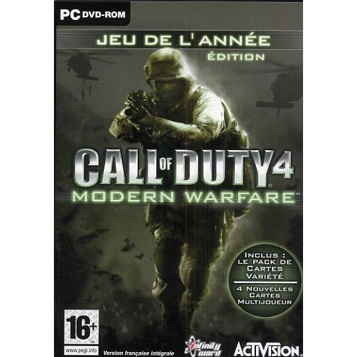 JEU PC CALL OF DUTY 4 MODERN WARFARE / Jeu PC DVD-ROM