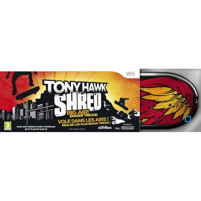 JEUX WII PACK TONY HAWK SHRED / jeu Wii