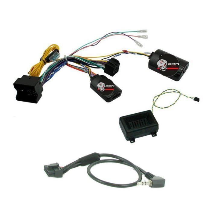 Interface Cde au Volant BMW 01-16 Fakra avec radars recul Pioneer/ Sony - ADNAuto - ADN-CAV