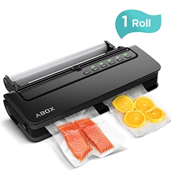 Machine Sous Vide, ABOX 5 en 1 Appareil de Mise Sous Vide Alimentaire Automatique avec Cutter et 1 Rouleau de Film Sous Vide pour Al