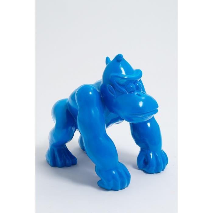 Statue singe gorille mini donkey kong taille S colori bleu clair - LIKASI - 36cm -