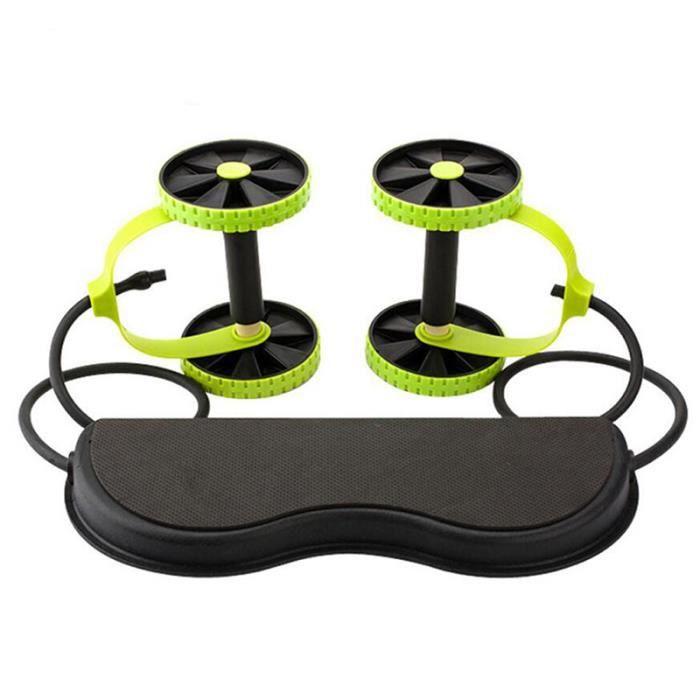 LUXS Deux Roue abdominale Appareil Abdominaux avec la corde de traction Entraînement multi-mode Portable