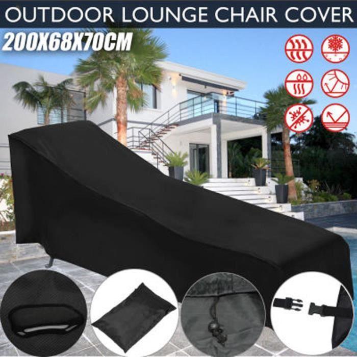 Housse de protection pour chaise longue de jardin 200x68x40-70cm