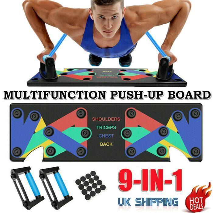 9 in 1 Support de Push-up, Appareil Musculation Pliable Multifonction, Planche à Traction Amovible Fitness Entraînement pour Fitness