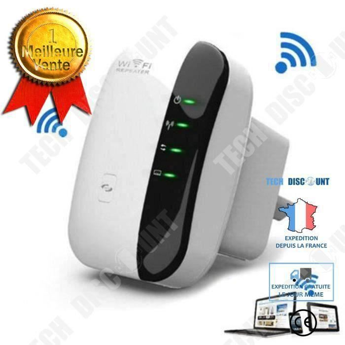 Amplificateur WiFi Repeteur Booster de signal sans fil WiFi extender 300M WLAN 802.11n-g-b Accessoire Wifi amplifier internet