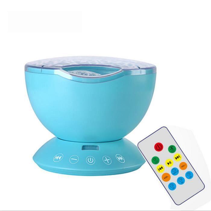 RE6142 Projecteur de vague d'océan lampe de contrôle USB cartes TF lecteur de musique haut parleur Led veilleuse pour enfants